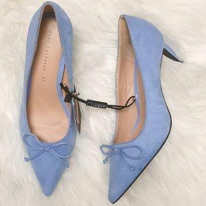 Zara blue suede heels